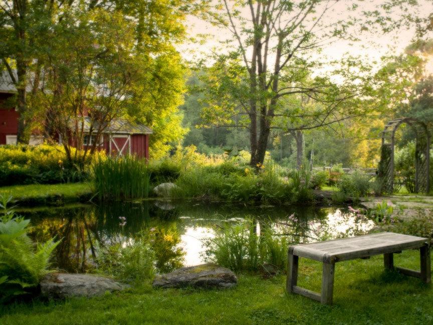 West Hill House B&B Garden view warren waitsfield