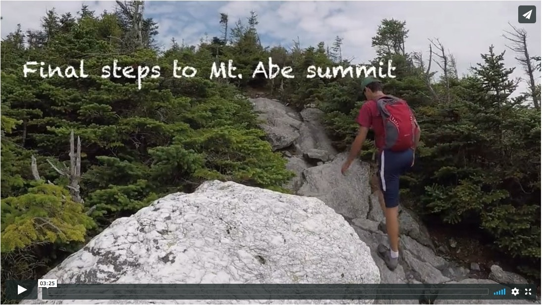 Lincoln Gap to Mt. Abraham Video