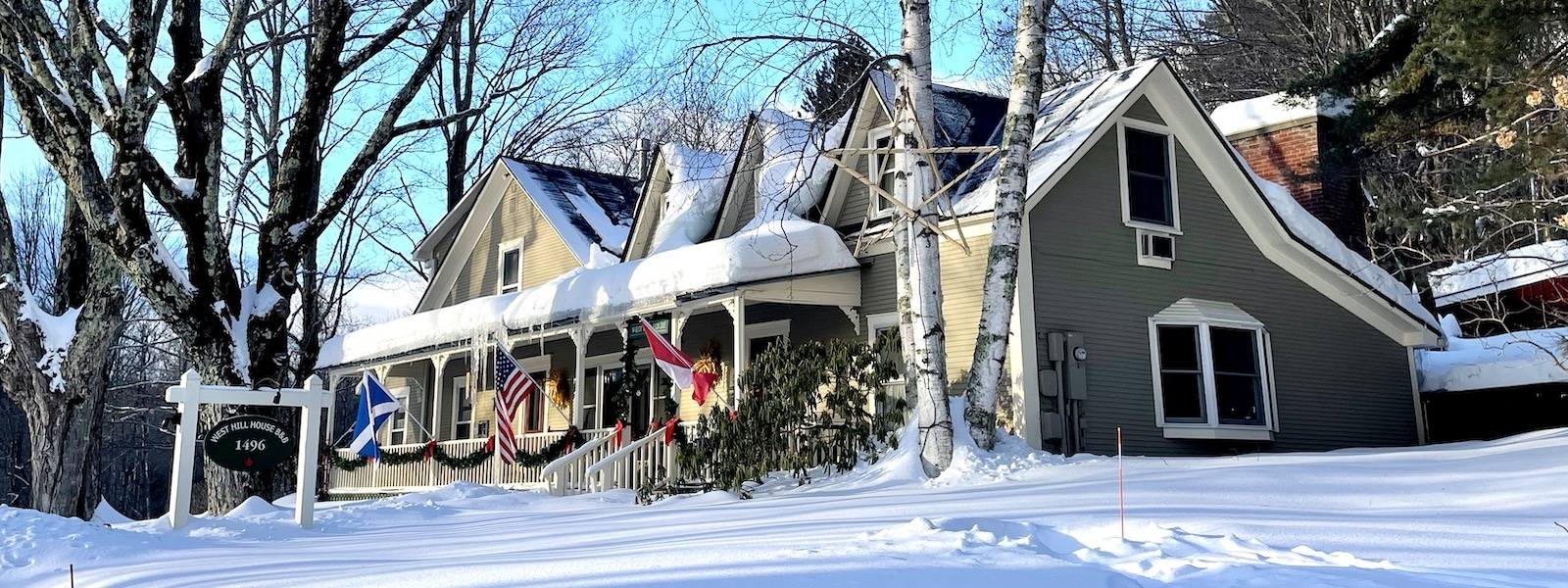 West Hill House B&B in the snow