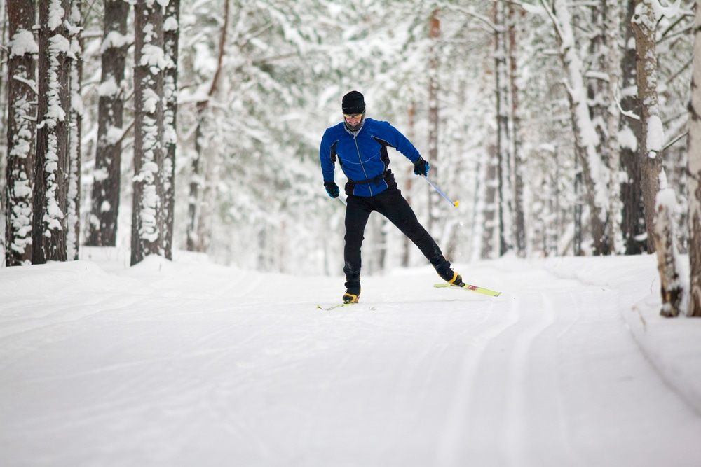 cross country skiing at Blueberry Lake Cross Country & Snowshoeing Center Near our Vermont Bed and Breakfast