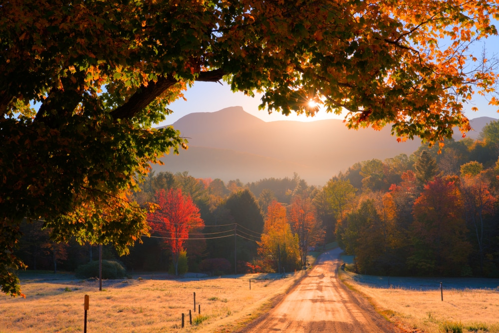 Enjoy classic falls views of Vermont in the Fall Near our B&B